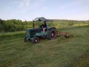 První pomocník Hanomag Perfect 400 (ne ten řidič, traktor)